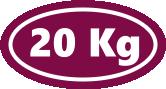 20 kg, packaging